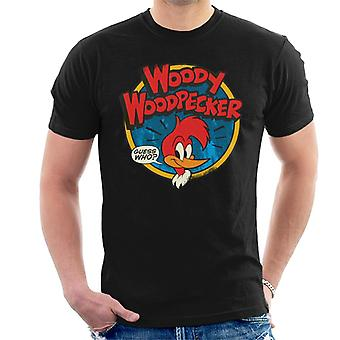 Woody Woodpecker Logo Guess Who Men's T-Shirt