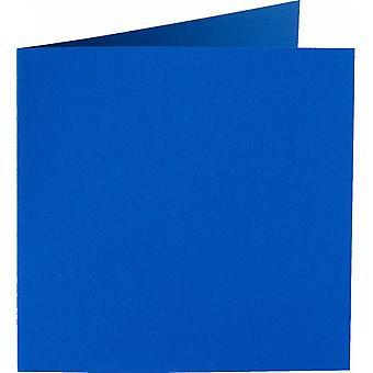 Papicolor 6X Doppelkarte 132X132mm Aqua-Blau