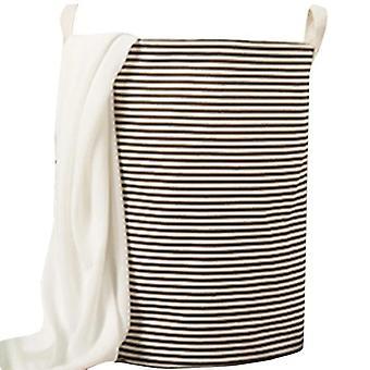 綿とリネンダストプルーフ洗濯バスケット収集バケツハンパー - 閉鎖とおもちゃ汚れた服の収納オーガナイザー