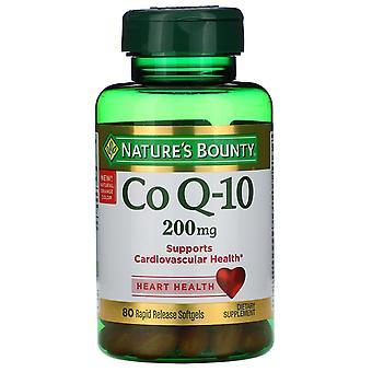 Natur's Bounty, Co Q-10, 200 mg, 80 Rapid Release Softgels