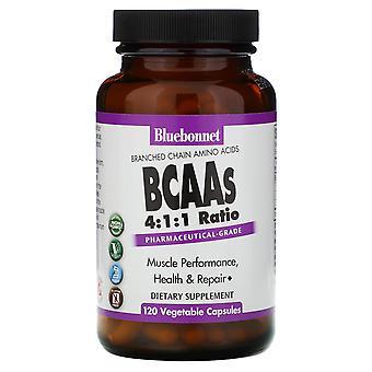 Bluebonnet Nutrition, BCAAs 4:1:1 Ratio, 120 Capsules végétales