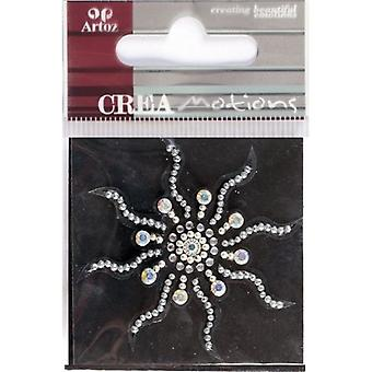 Crystal Sun Crystal Decorative Sticker Embellishment By Artoz