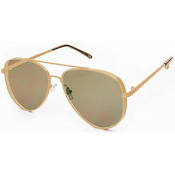 نظارات شمسية Unisex Cat.3 الذهب / البني (19-202)