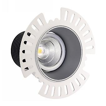 Downlight inclinable encastré à LED, Argent Trimless, 40 deg. Angle de faisceau, 760lm, 3000K, IP20, DRIVER NOT INC.