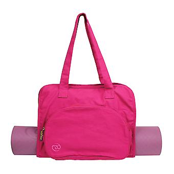 Fitness Mad Cotton Yoga and Pilates Mat Carry Bag Hot Pink