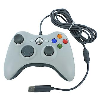 Wired usb controller for xbox 360 slim compatible joypad replacement - white | zedlabz