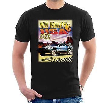 Back to the Future Delorean Hill Valley USA Marty Mcfly Men's T-Shirt