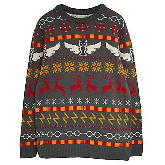 Harry Potter Icons Fair Isle Men's Knitted Jumper | Official Merchandise