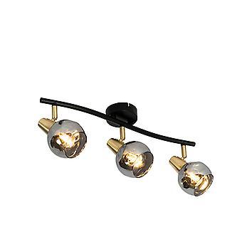 Lampada a soffitto QA-QA oro 56 cm con vetro fumo 3-luce - Vidro