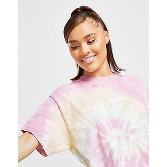 New Ellesse Men's Tie Dye Logo Short Sleeve T-Shirt Pink