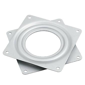 Heavy Duty Square Type Metal Lazy Bearing Rotating Swivel Turntable Bearing Plate Chair Furniture Parts Accessories (silver)