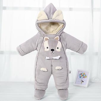 Newborn Style Rompers Cold Winter Warm Baby Snowsuit Jumpsuits Cute Cartoon