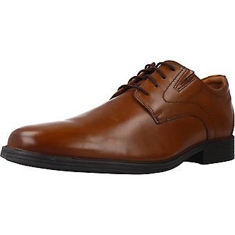 Clarks Whiddon Schlichte Farbe Darktan Kleid Schuhe