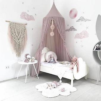 Princess Baby Mosquito Net Bed, Kids Canopy Bedcover Curtain Bedding Décor