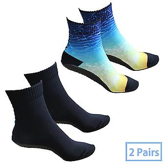 Volleyball Beach Socks , 2 Pairs Seamless Quick-dry Suit Water Sports Yoga,