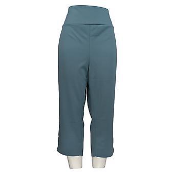 Antthony Kvinder's Plus Bukser Crop Tummy Udjævning Pedal Pusher Blå 695-063