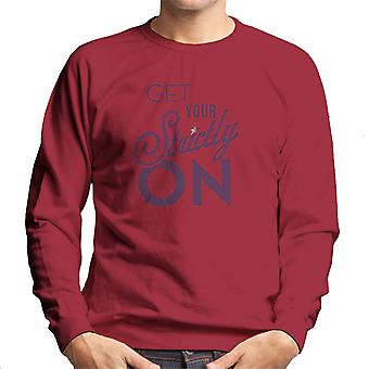 Strictly Come Dancing Get Your Strictly On Metallic Print Men's Sweatshirt