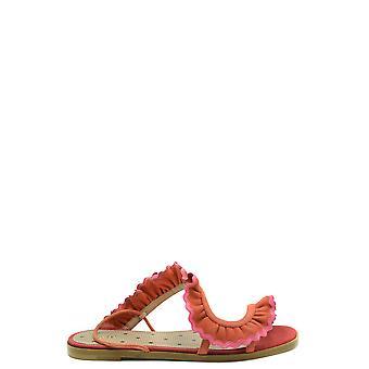 Red Valentino Ezbc026096 Women's Orange Suede Sandals