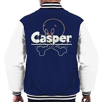 Casper The Friendly Ghost Crossbones Men's Varsity Jacket