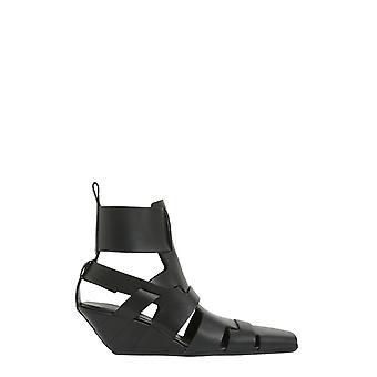 Rick Owens Ro17s3850lge09 Women's Black Leather Sandals