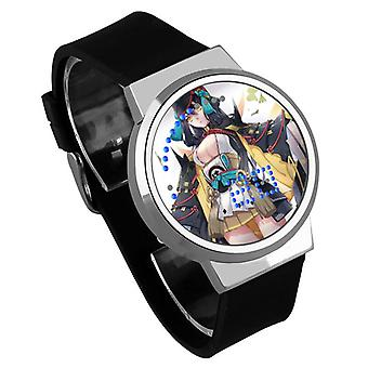 Nepremokavé svetelné LED digitálne dotykové detské hodinky - Onmyoji #36