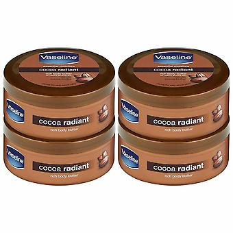 Vaseline Intensive Care Cocoa Body Butter, 250 ml, Pack of 4