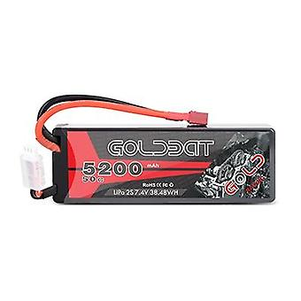 1/2 Units Goldbat- 5200mah Lipo Battery 7.4v 50c, 2s Lipo Rc Battery With Deans