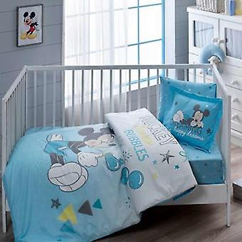 Mickey Cartoon Printed Cotton Quilt Cover Set