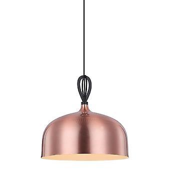 Moderne hangende hanghanger koper 1 licht met koper, metalen schaduw, E27
