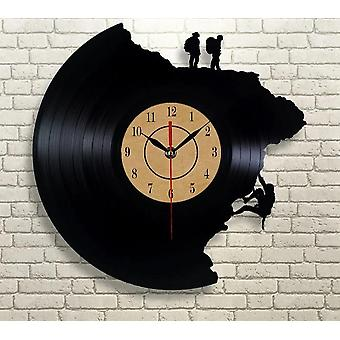 Creative Vinyl Record Climbing Home Wall Clock