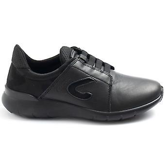 Női Grisport 6602 fekete bőr rövidnadrág gumikkal
