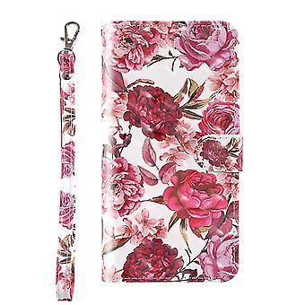 Tegnebog med mønster af blomster til iPhone 7/8/SE 2020