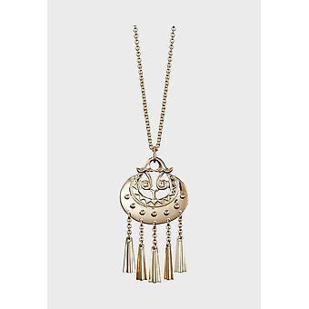 Kalevala Necklace Adjustable 55/60cm Moon goddess 14K Gold 1203031