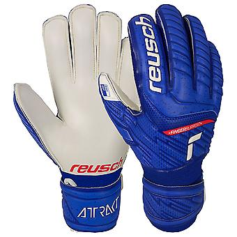 Reusch Attrakt Grip Finger Support Junior Goalkeeper Gloves