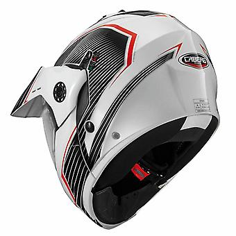 Caberg Tourmax Sonic Helmet White/Black/Red ACU Gold