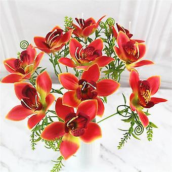 Bouquet Fiore di orchidea artificiale, seta finta scrivania da sposa fai-da-si- Accessori,