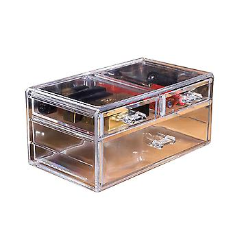 24x13.5x11cm Transparent Drawer Type Cosmetic Storage Box (6403 models)