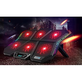 Coolcold Gaming Rgb Laptop Cooler/cooling Pad Notebook Cooler Stand With Six