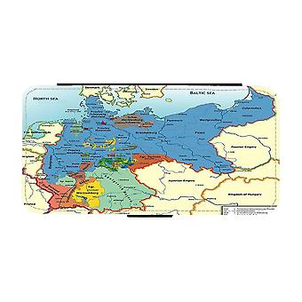 Map of Germany iPhone 12 Mini Wallet Case