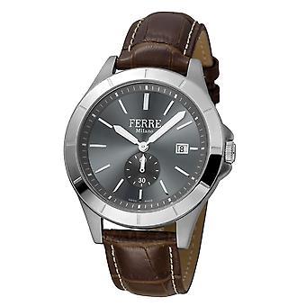 Ferre Milano  Men's Chocolate Dial Calfskin Leather Watch