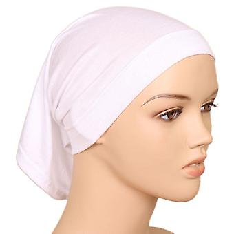 Udskrivning Ladies Turban Bonnet Soft Bomuld Arabiske Wraps Top Knude Hijab Caps, Head