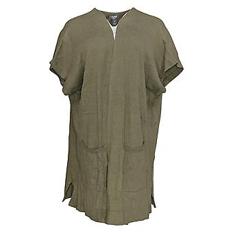 Martha Stewart Mujeres's Suéter De Hombro Extendido Cardigan Verde A307720