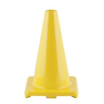 """Cono de vinilo flexible de alta visibilidad, ponderado, 12"""", amarillo"""