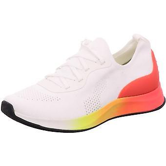 Białe neonowe płaskie buty