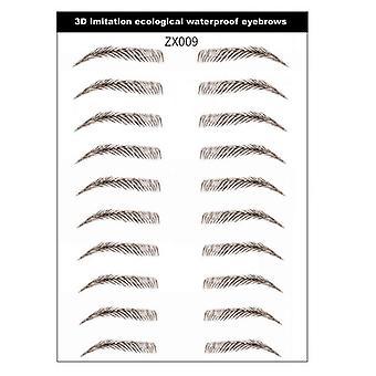 6d Tattoo False 3d Waterproof Semi-permanent Natural Eyebrow Sticker