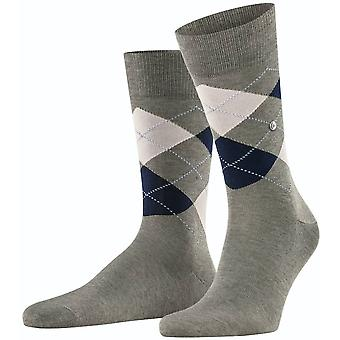 Burlington Manchester Socks - Grey/White/Navy