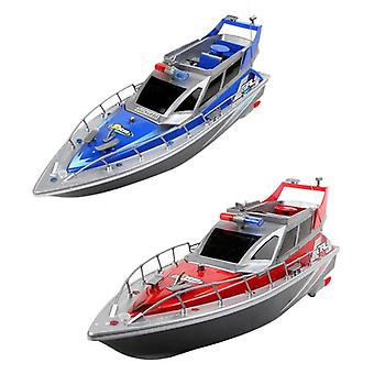 Police Remote Control Boat Police Speed  Electric Remote Control Boat (blue)