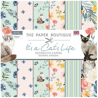 The Paper Boutique - It's a Cats Life Collection - 8x8 Paper Pad