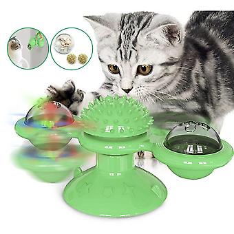 Toy For Cats, Puzzle Whirling, Turntable Play Game, Training Kitten Interactive