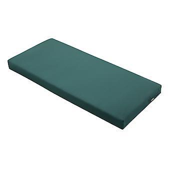 """Accesorios clásicos Ravenna Patio Banco /Settee Cojín Slip Cover & Foam - Cojín exterior duradero, Mallard Green, 42""""W X 18""""D X 3""""Thick"""